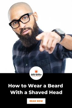 There is no more classic bald-with-beard look than the full beard with a bald head. This is a great look for men looking to embrace their wiser, bluesier, whiskey drinkin' side. Read on to learn 6 great #beardstyles Great Beards, Awesome Beards, Beard Styles For Men, Hair And Beard Styles, Bald Head With Beard, Badass Beard, Best Beard Oil, Types Of Beards, Natural Beard Oil