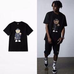 Cartoon Bear Print T-shirt