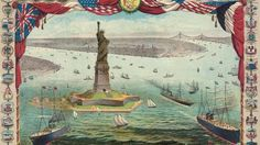 La statue «la liberté éclairant le monde», son nom d'origine, est un cadeau offert par les Français. Son inauguration sur l'île de Beldoe se déroule en octobre 1886.