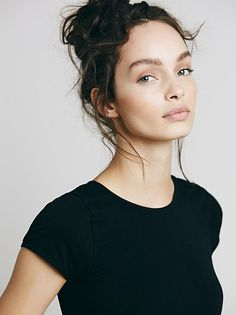 Luma Grothe || FP Intimately Cap Sleeve Seamless Cami (Black)