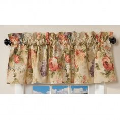 Floral Valance Features A Vibrant Flowery Array Of Red, Pink, Lavender And  Green Colors, Creating A 100 Percent Cotton, Made In The USA Valance Sure  To ...