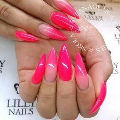 Hubba Bubba Gel Polish  Builder Gel Rouge = TRUE!  Visit www.lillynails.se  . . #sveanaglar#lillynails#nails#nailart#naglar#gelnails#gelenaglar#gelpolish#gelelack#acrylicnails#akrylnaglar#instanails#nailstagram#nailtech#nailswag #nailwow#nailinspo#nailinspiration#tmblrfeature#hudabeauty#stiletto#stilettonails#scra2ch#frenchfade#fadedfrench#hubbahubba#pink#neon#ombre #ombrenails by sveanaglar