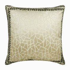 "Decorative Throw Pillow Cover 16""x 16"", Velvet Toss Pillows Ivory Sofa Pillow Cover Foil Mosaic Pattern Modern Style - Ivory Mosaic Glory"
