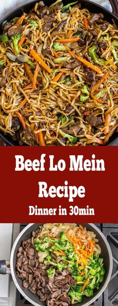 Seriously the best ever BEEF LO Mein, so much flavor. Easy to make, all in one pan. Our entire family loves it and yours will too! Seriously the best ever BEEF LO Mein, so much flavor. Easy to make, all in one pan. Beef Dishes, Pasta Dishes, Food Dishes, Main Dishes, Meat Dish, One Pot Meals, Easy Meals, Healthy Meals, Healthy Recipes