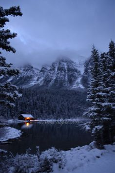 Lake Louise in the winter - so serenely, endlessly beautiful. #Canada #Rockies