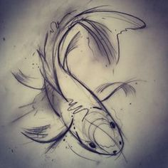 Soon to be watercolour tattoo :3 #koi #koitattoo #sketch #drawing #illustration #fish