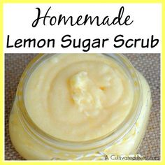 A great way to keep your skin beautiful and healthy is to use a body scrub! Want to give one a try? Then make this moisturizing homemade lemon sugar scrub!