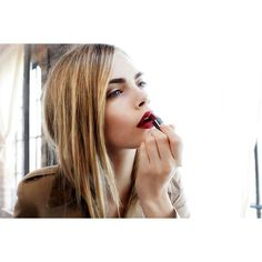 Burberry's New Beauty Icon ❤ liked on Polyvore featuring pictures