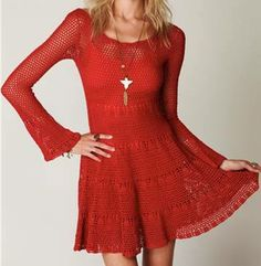 Häkelmuster-Fundgrube: rotes Kleid