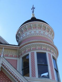 Turret of the The Pink Lady... look you can see inside the window... :)