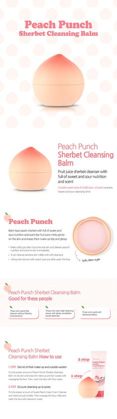 TONYMOLY- PEACH PUNCH SHERBET CLEANSING BALM > CLEANSING/PACK/MASSAGE | TONYMOLY GLOBAL