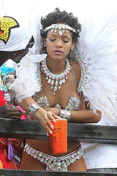 #Caribbean #carnival Rihanna's racy style parade hits Barbados