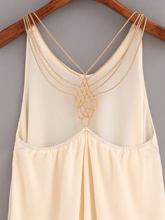 Shop Beaded Racerback Chiffon Top - Apricot online. SheIn offers Beaded Racerback Chiffon Top - Apricot & more to fit your fashionable needs.