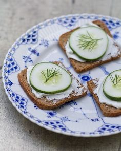 Rye toast with cucumber.  One of my favorites :)