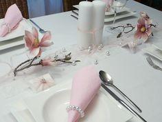 Mustertisch 5. Tischdekoration zum Frühling - Mustertisch mit Orchideen