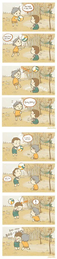 haikyuu daisuga cute comic
