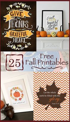free fall printables of all sorts - great variety with multiple usages...all for the autumn season