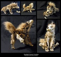 Poseable Spotted Hyena Voodoo by WormsandBones on deviantART