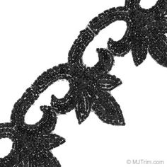 Unit of Measure for this product is / YardThis gorgeous Bugle and Seed   Beaded Leaf Trim has a detailed design that will give your old   wardrobe a refreshing new look. The trim has a leaf vine design   made from bugle beads and seed beads. Use this trim to decorate   dress pants, shirts, blazers and more. This trim can also be used   to embellish accessory pieces including belts, handbags,   headbands and jewelry. Available in 11 styles.