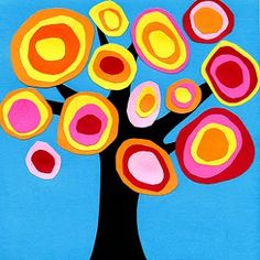 Kandinsky Tree Collage · Art Projects for Kids Kandinsky tree- fall art project idea for kids Collage Nature, Tree Collage, Tree Art, Collage Art, Simple Collage, Collage Ideas, Kandinsky For Kids, Kandinsky Art, Fall Art Projects
