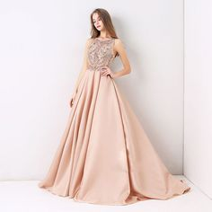 Charming Beaded Long Prom Dress, Sexy Long Evening Party Dress, Shop plus-sized prom dresses for curvy figures and plus-size party dresses. Ball gowns for prom in plus sizes and short plus-sized prom dresses for Gold Prom Dresses, Prom Dresses For Sale, Prom Party Dresses, Girls Dresses, Bridesmaid Dresses, Dress Prom, Pink Dresses, Formal Dress, Ball Gowns Evening