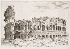 Antoine Lafréry, publisher, Perspective of the Colosseum, Rome, printed before 1558. Engraving,
