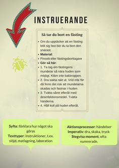 Instructive How to remove a tick If you find that e .- Instruerande Så tar du bort en fästing Om du upptäcker att en fästi… Instructions How to remove a tick If you find that a tick … - Teaching Writing, Teaching English, Learn Swedish, Swedish Language, School Schedule, School Posters, School Hacks, Summer School, What Is Life About