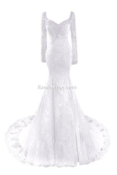 Mermaid Wedding Dress 2016 Lace Bridal Gowns with Sleeves Custom Made http://www.ikmdresses.com/Mermaid-Wedding-Dress-2016-Lace-Bridal-Gowns-with-Sleeves-Custom-Made-p90846