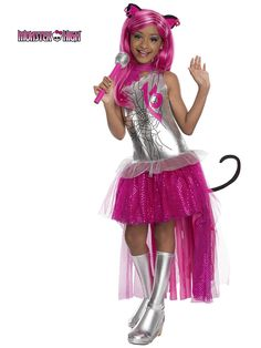 your daughter is going to look meowvelous in this officially licensed monster high catty noir girls costume