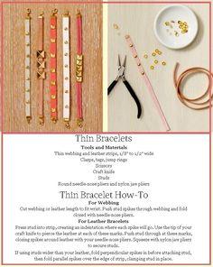 Handmade Jewelry - Thin Bracelet How-To - Martha Stewart Crafts