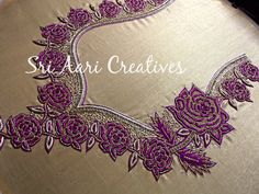 SRI AARI CREATIVES: Latest Aari Embroidery designer blouses