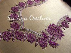 SRI AARI CREATIVES: Latest Aari Embroidery designer blouses