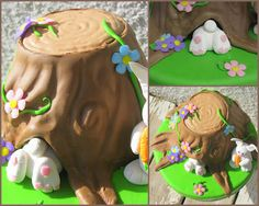 #Bunny #Cake #Easter #Fondant
