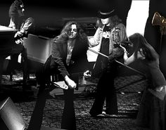 Leslie Sue photographs Lynyrd Skynyrd live on stage. Okay, well with the help of Photoshop & some imagination.