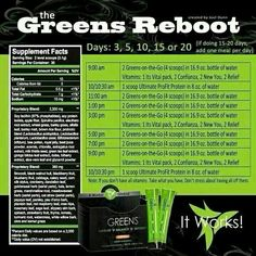 It Works Greens Reboot. Known to have Better Results than the Juicing fast! www.wrapitupwithsteph.com