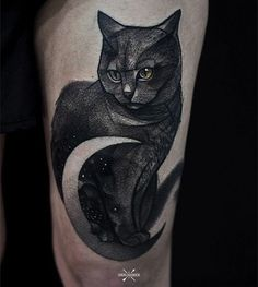 Thigh cute cat tattoo - 100+ Examples of Cute Cat Tattoo
