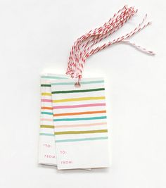 $8 Happy Stripe Gift Tags