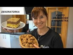 CIASTO ORZECHOWE Z GALARETKĄ - YouTube Cereal, Breakfast, Sweet, Youtube, Christmas, Food, Pineapple, Morning Coffee, Candy