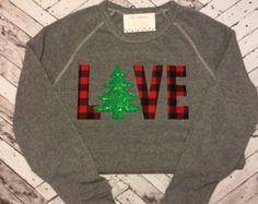 christmas tree applique shirts – Etsy