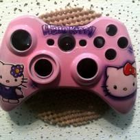 Xbox 360 custom painted controllers  Hello Kitty