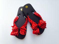 Ladybug Flip Flops