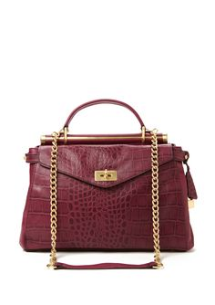 BCBGMAXAZRIA  Croco Medium Satchel <-- cute bag, but I have a feeling it might be a bit on the heavy side :(