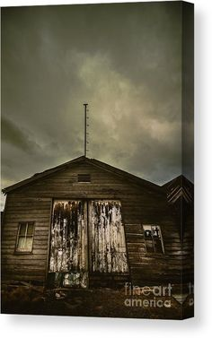 Rustic Canvas Print featuring the photograph Bygone Farmstead by Jorgo Photography - Wall Art Gallery