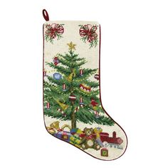 Needlepoint Christmas Stocking. Decorate the mantle with this hand-crafted Holiday Needlepoint Stocking embellished with cotton velvet backing. The Holiday Ornaments Needlepoint Stocking, the Nutcracker Needlepoint Stocking, and the Snowman Needlepoint Stocking are additionally embellished with cotton velvet accents and rope cord. The Juggling Snowman Needlepoint Pillow is a Vicky Howard licensed design, and is additionally embellished with cotton velvet accents and rope cord. The Midnight…