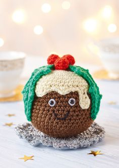 Christmas Pudding - free pattern by Hannah Cooper at Top Crochet Patterns.