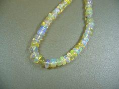 Ethiopian Welo Opal Smooth Rondelle Beads 3 Strand