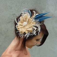 Sunshine and Lollipops  Peacock Feather by HeadFullofFeathers, $129.00 Bridesmaids?