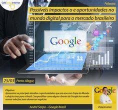 """Edição 200!!!!  Apresentação """"Oportunidades de Negócios em ano de Copa do Mundo"""" da Google Brasil no evento Café COM Internet, em Porto Alegre (25/03). Internet, Challenges, Breakfast Nook, Porto, World"""