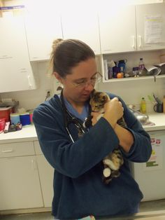Kitten snuggles are the best! - with Stacia one of our Vet Assistants.