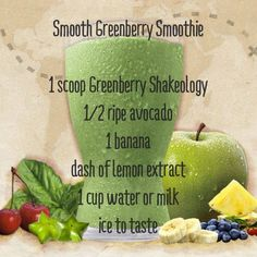 This superfood-packed protein shake helps you lose weight the healthy way, fight junk food cravings, increase your energy, and improve your digestion. Juice Smoothie, Smoothie Drinks, Smoothie Recipes, Smoothies, Vitamix Recipes, Greenberry Shakeology, Beachbody Shakeology, Clean Eating Vegetarian, Clean Eating Recipes